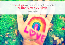 Happiness from love