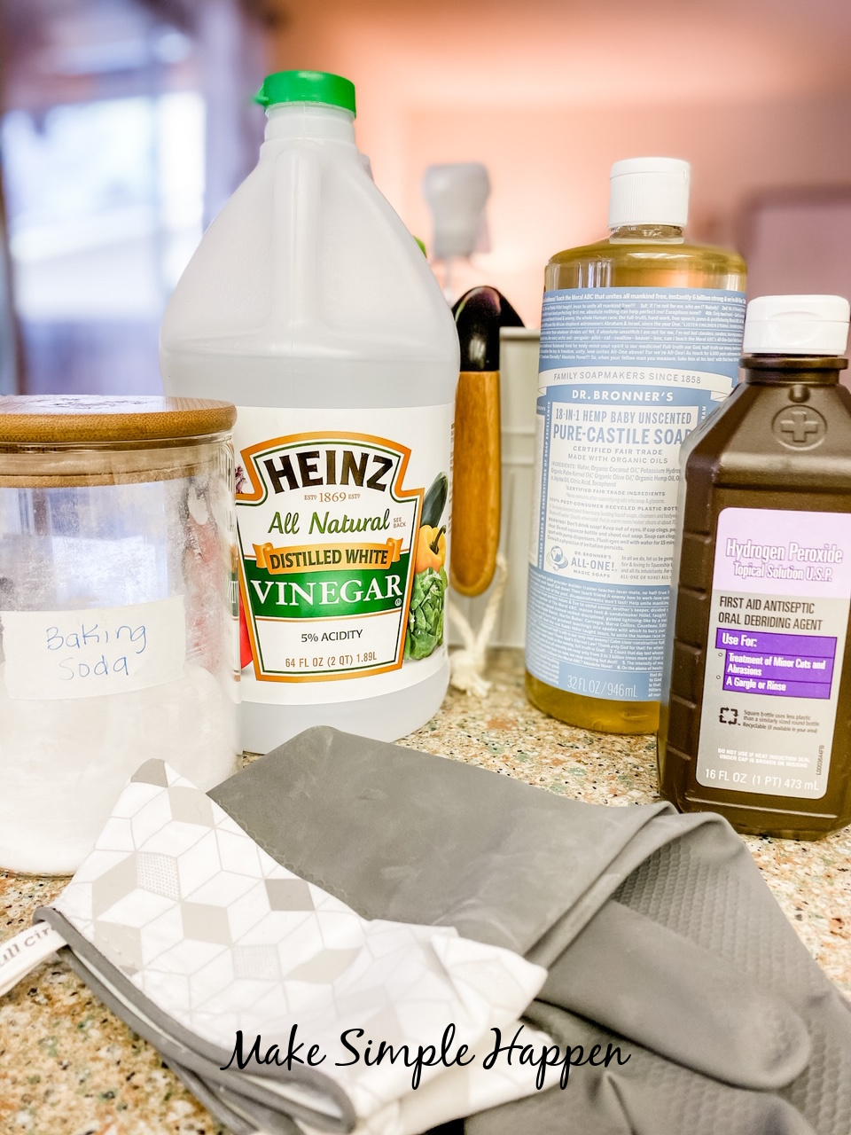 Household Basics for Cleaning_MakeSimpleHappen